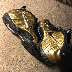 Nike metallic gold foamposites